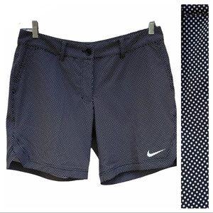 Nike Golf Tour Performance Dri-Fit Black Polka Dot Stretch Shorts 10